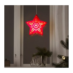"STRÅLA pendant lamp shade, star red Diameter: 14 "" Diameter: 36 cm"