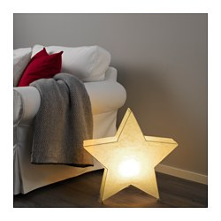 "STRÅLA table decoration with LED bulb, star-shaped Height: 20 "" Height: 50 cm"