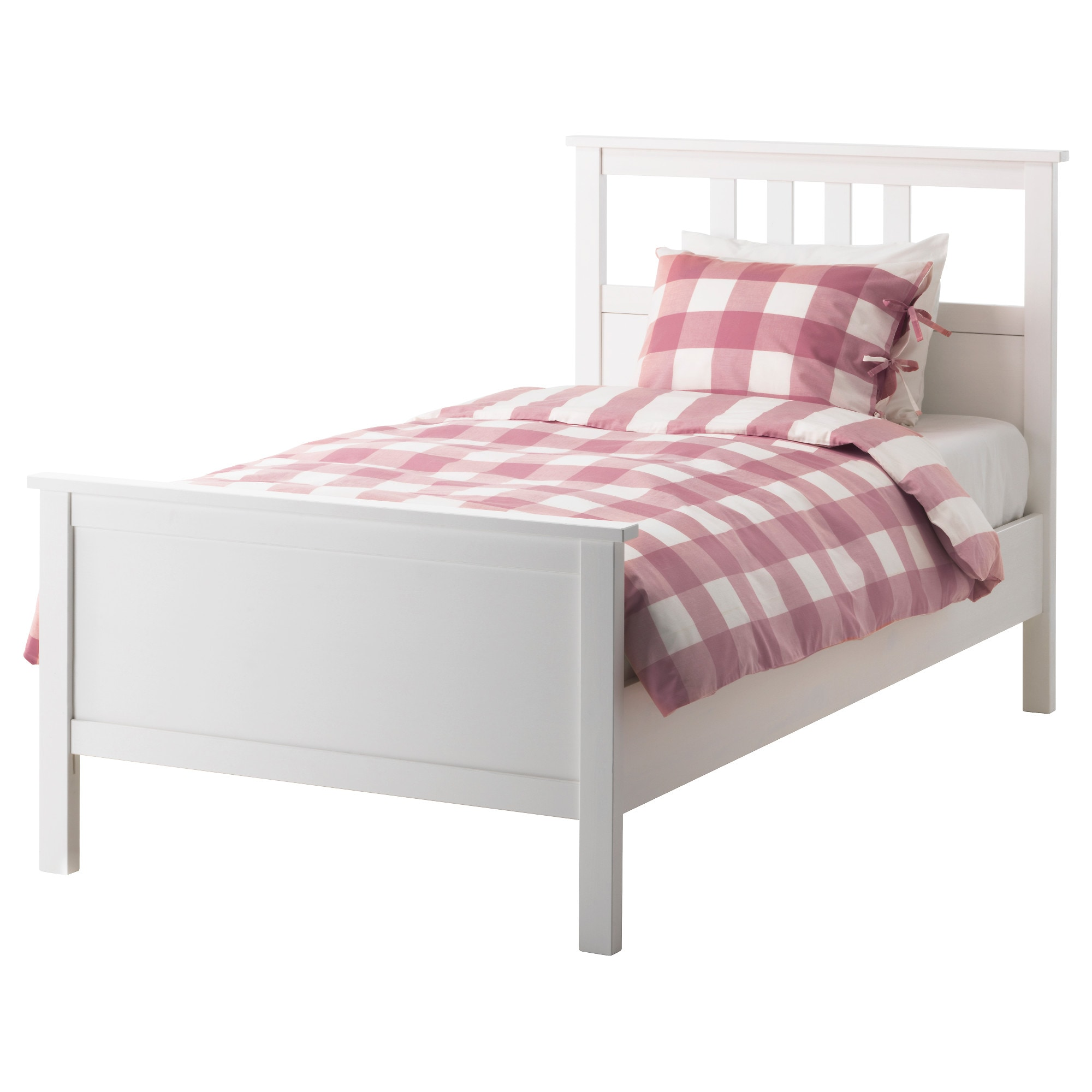 hemnes bed frame white stain length 79 18 width 43 - Twin Bed And Frame