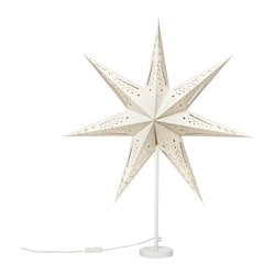 STRÅLA table lamp, star grey Diameter: 70 cm Height: 85 cm Cord length: 2.0 m