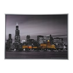 "KLAMBY picture, Chicago Width: 55 "" Height: 39 ¼ "" Width: 140 cm Height: 100 cm"