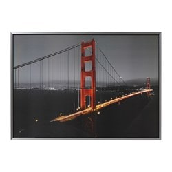 "KLAMBY picture, Golden Gate Width: 55 "" Height: 39 ¼ "" Width: 140 cm Height: 100 cm"
