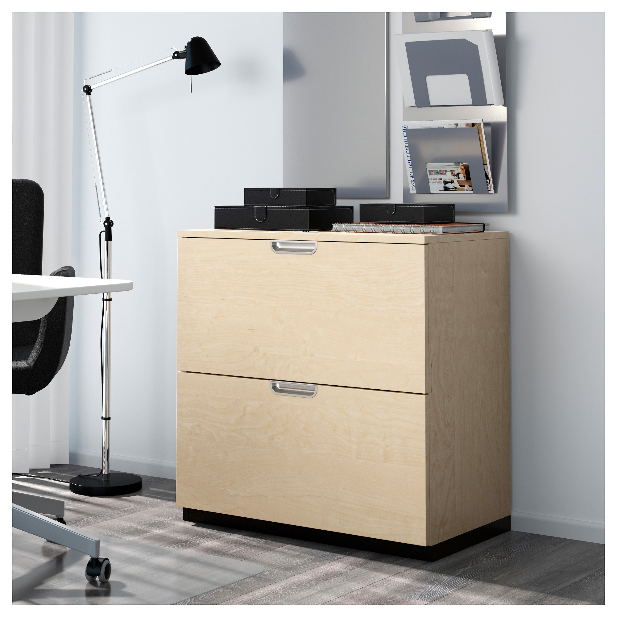 Ikea Galant galant drawer unit drop file storage birch veneer ikea