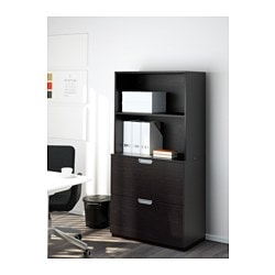GALANT Storage Combination With Filing, Black Brown