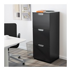 Galant File Cabinet Black Brown