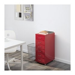 helmer drawer unit on casters - red - ikea