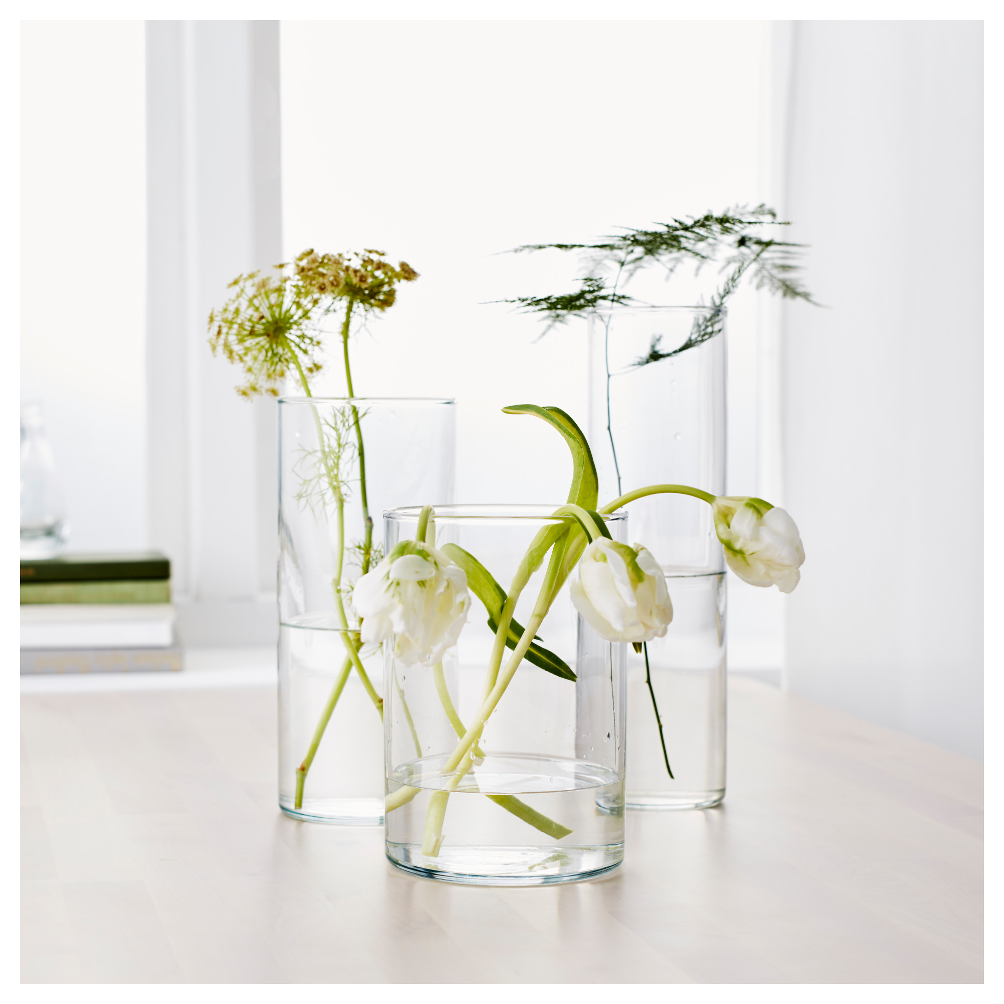 Cylinder vase set of 3 ikea floridaeventfo Image collections