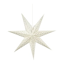 STRÅLA pendant lamp, star white Diameter: 70 cm Cord length: 3.0 m