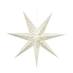STRÅLA pendant lamp, star white Diameter: 100 cm Cord length: 3.0 m