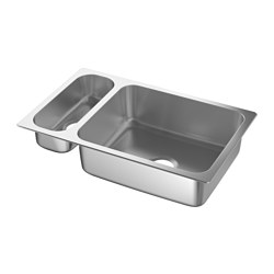 HILLESJÖN Inset sink 1 1/2 bowl $149