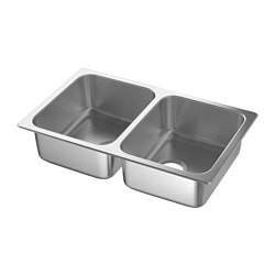 HILLESJÖN Double bowl dual mount sink $99.00