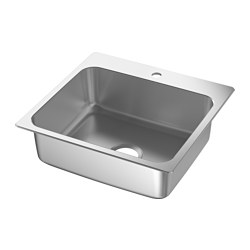 LÅNGUDDEN Single bowl top mount sink $89.00