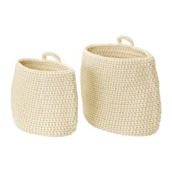 NORDRANA basket, set of 2, off-white