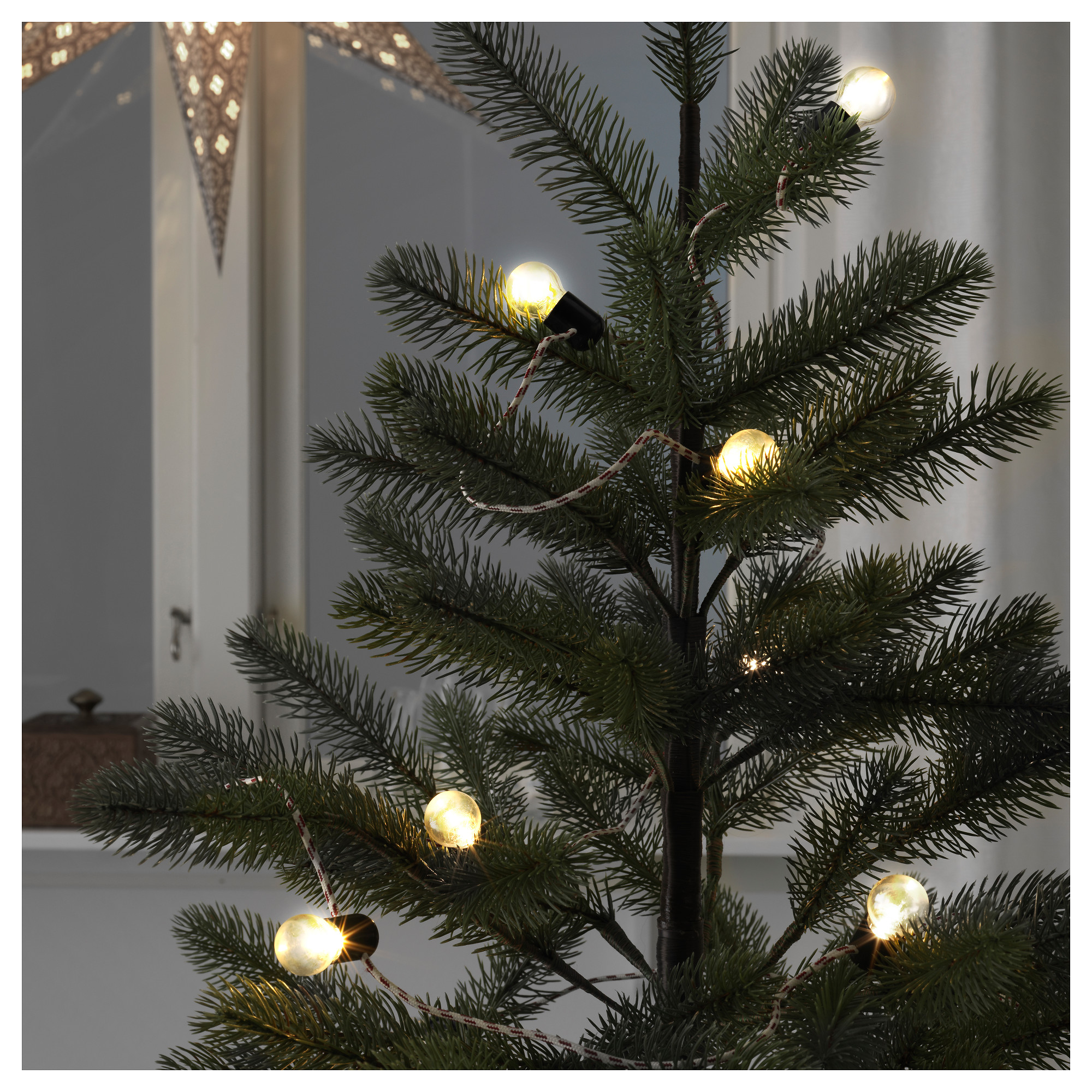 strla led light chain with 12 lights battery operated indoor cord length 4 - Battery Operated White Christmas Lights