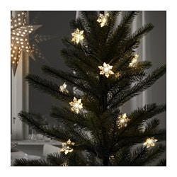 STRÅLA, Decoration for light chain, indoor/outdoor, snowflakes