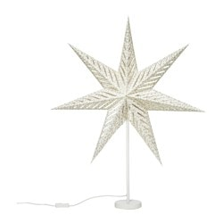 "STRÅLA table lamp, star white Diameter: 18 "" Height: 33 "" Cord length: 6 ' 7 "" Diameter: 45 cm Height: 85 cm Cord length: 2.0 m"