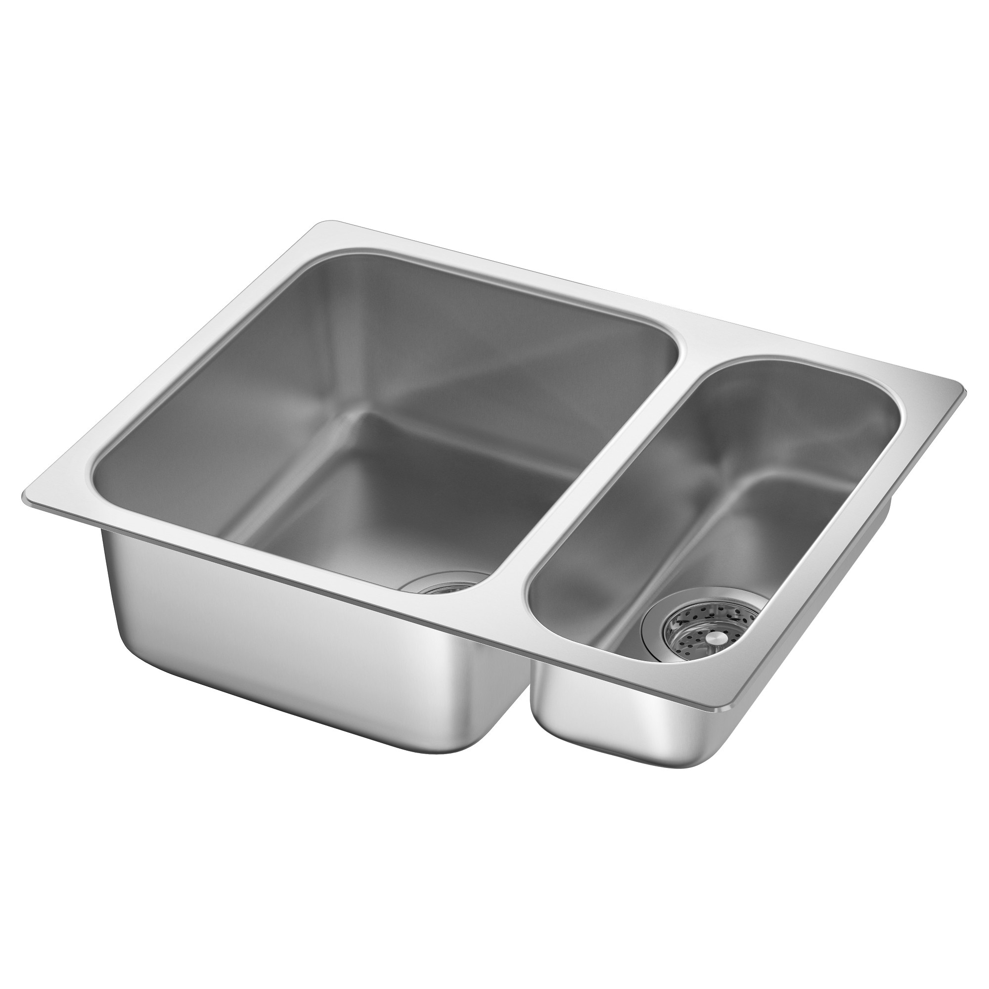 HILLESJÖN 1 1/2 Bowl Dual Mount Sink, Stainless Steel Cut Out Measurement