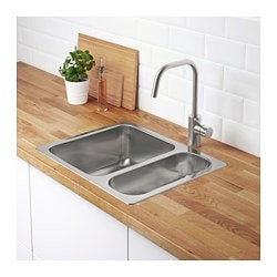 hillesj  n 1 1 2 bowl dual mount sink stainless steel hillesj  n 1 1 2 bowl dual mount sink   ikea  rh   ikea com