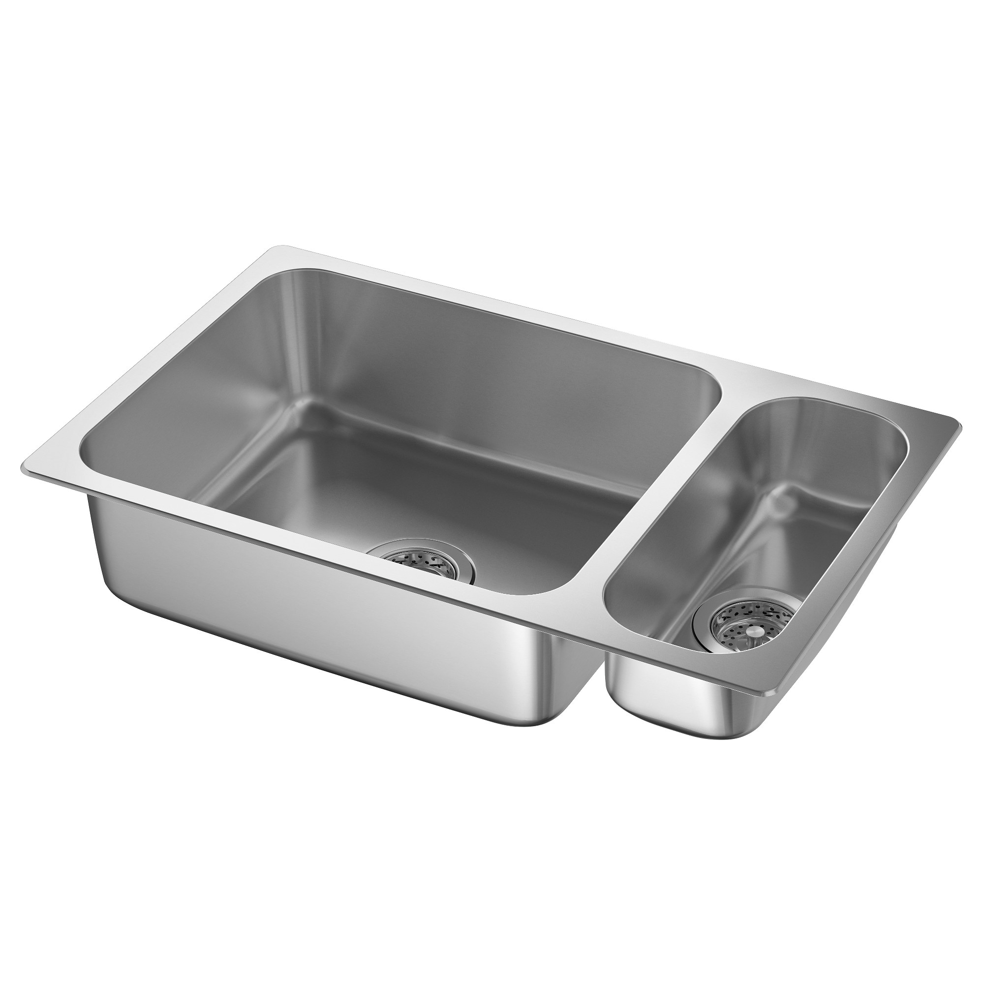 Hillesj N 1 1 2 Bowl Dual Mount Sink Stainless Steel Length 29 1