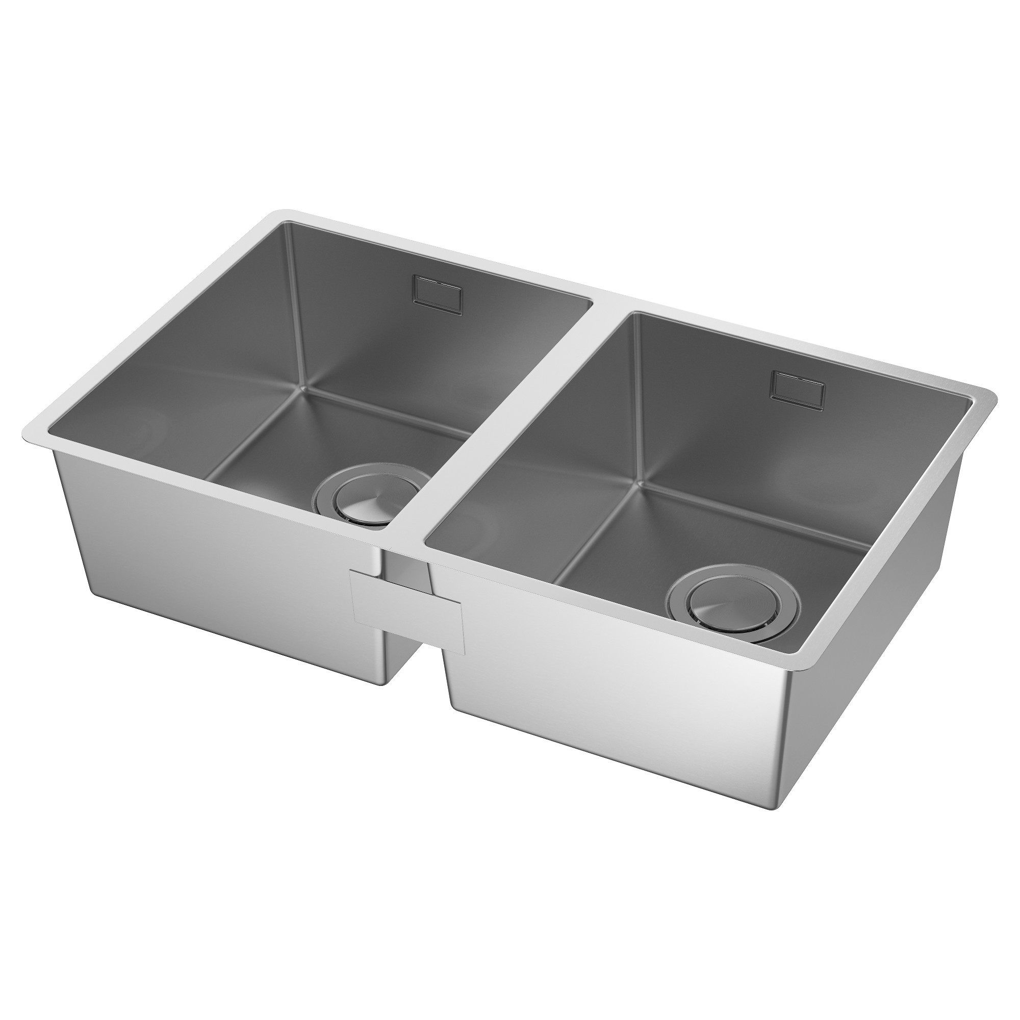 norrsj n inset sink 2 bowls stainless steel ikea rh ikea com square kitchen sink drain square kitchen sink bowl