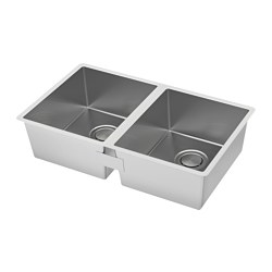 NORRSJÖN Double Bowl Top Mount Sink