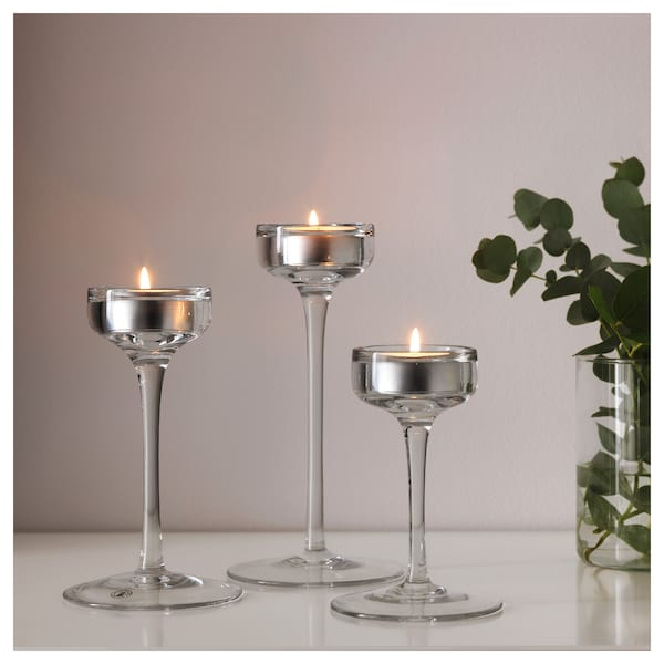 IKEA BLOMSTER Candle holder, set of 3