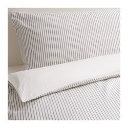 RÖDNARV quilt cover and 4 pillowcases, white, stripe Pillowcase quantity: 4 pack Quilt cover length: 200 cm Quilt cover width: 200 cm