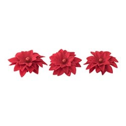 STRÅLA LED table decoration, flower Package quantity: 3 pack