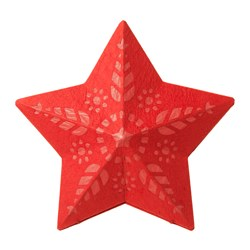 STRÅLA pendant lamp shade, star red Diameter: 36 cm