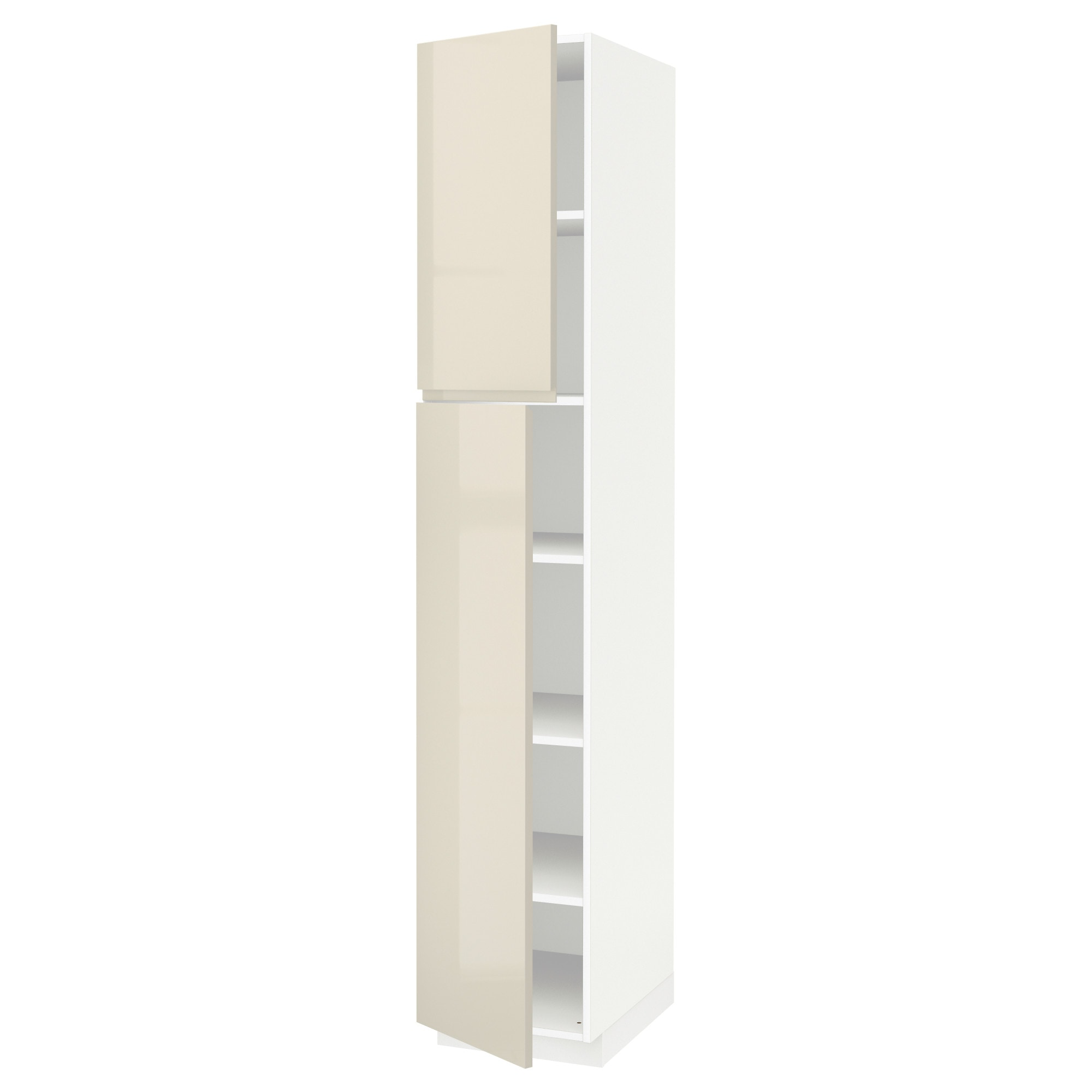 Trendy Metod High Cabinet With Shelves Doors White Voxtorp