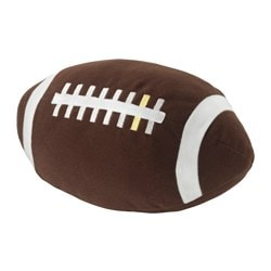 ÖNSKAD soft toy, American football, brown Length: 25 cm
