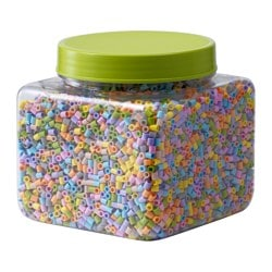 PYSSLA beads, assorted pastel colours Width: 12 cm Height: 18 cm Weight: 700 g