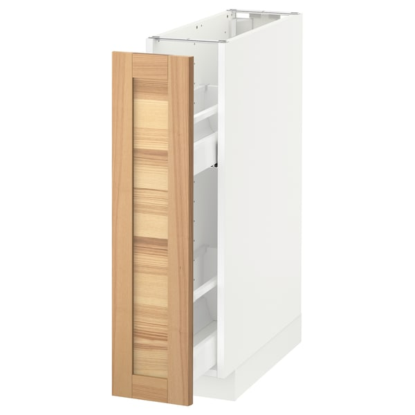 Metod Base Cabinetpull Out Int Fittings White Torhamn Ash Ikea