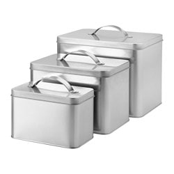 HEMSMAK tin with lid, set of 3