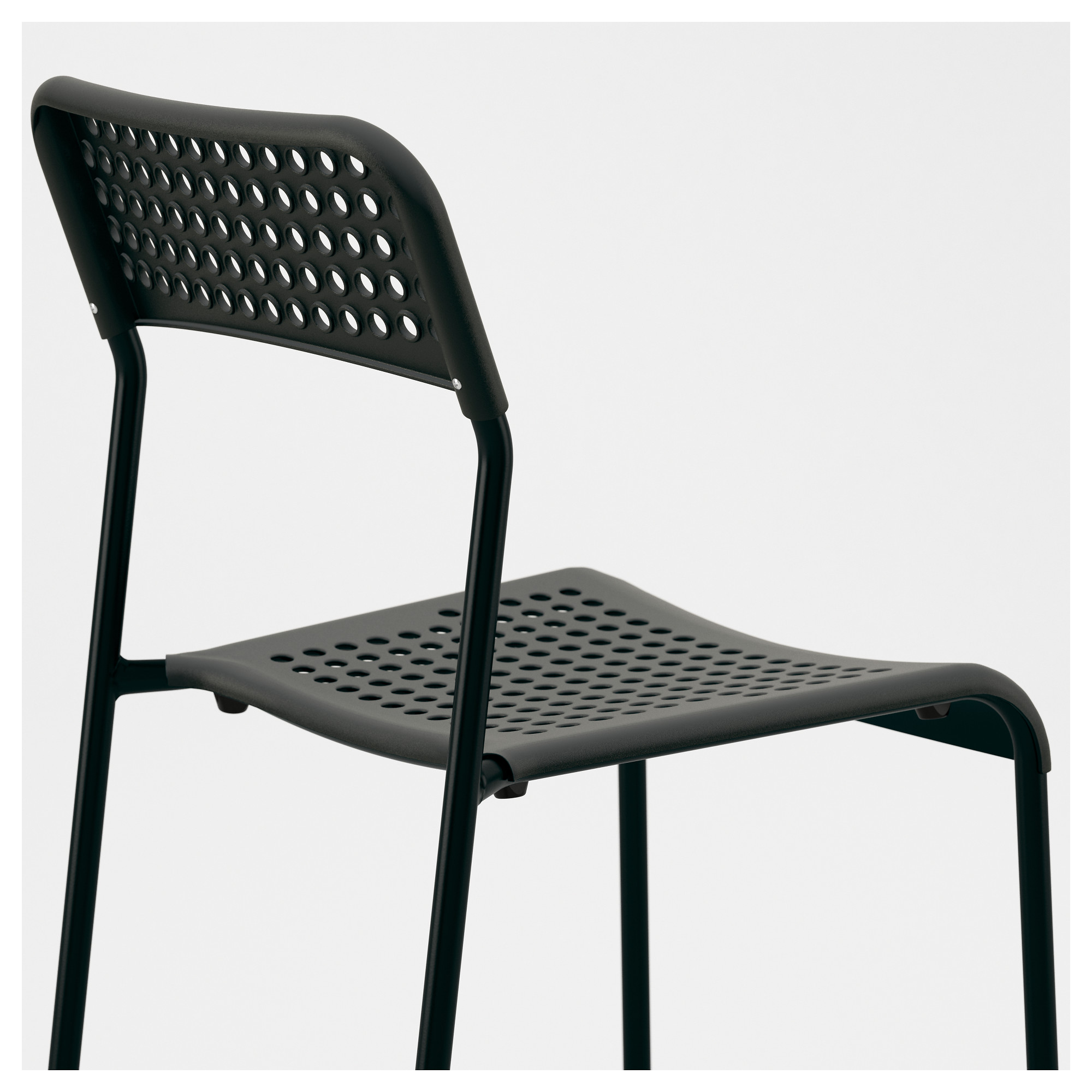 Black Stackable Chairs adde chair - ikea