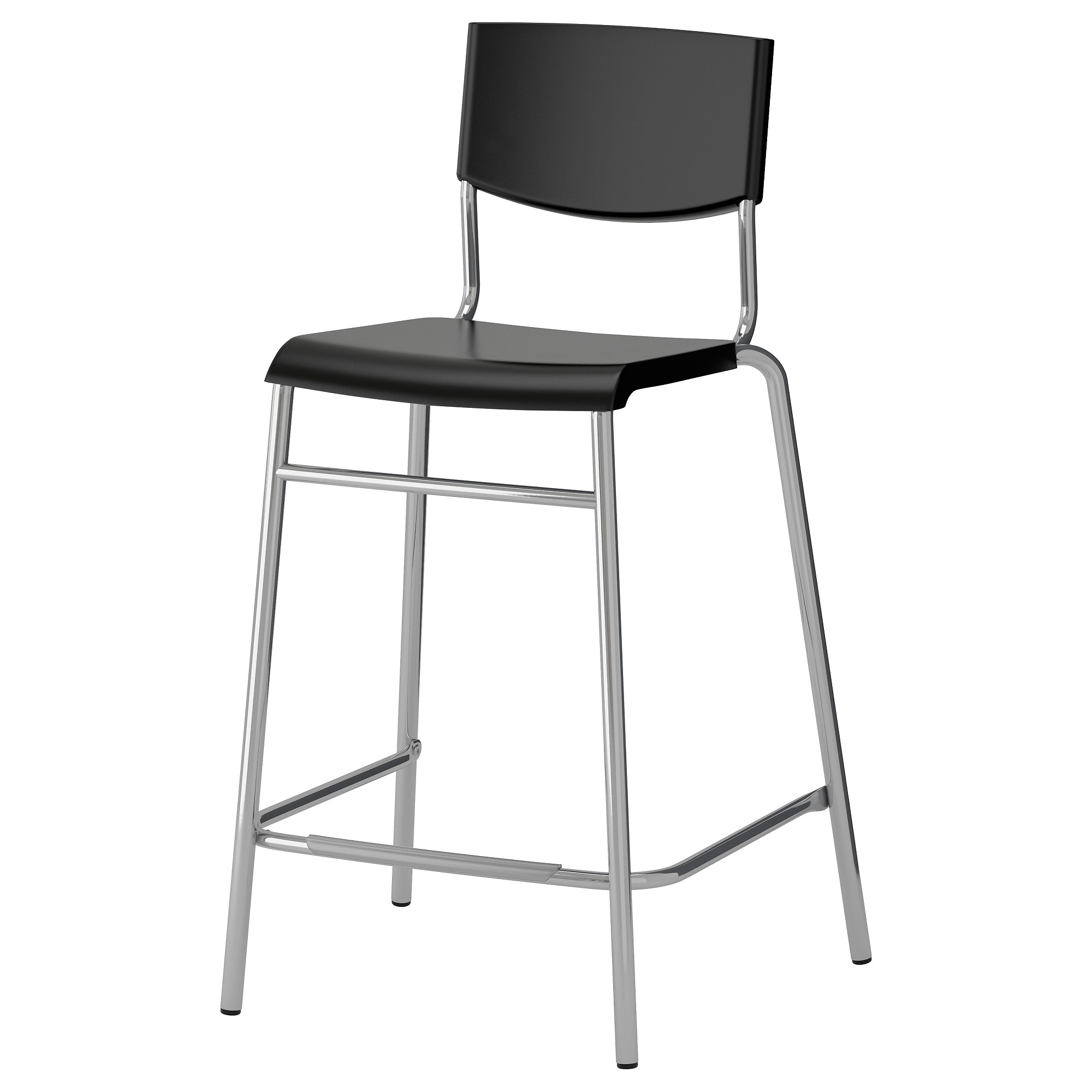 bar tables  bar stools  ikea - stig bar stool with backrest black silver color tested for  lb width