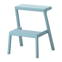 MÄSTERBY step stool, light blue