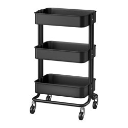 RÅSKOG, Utility cart, black