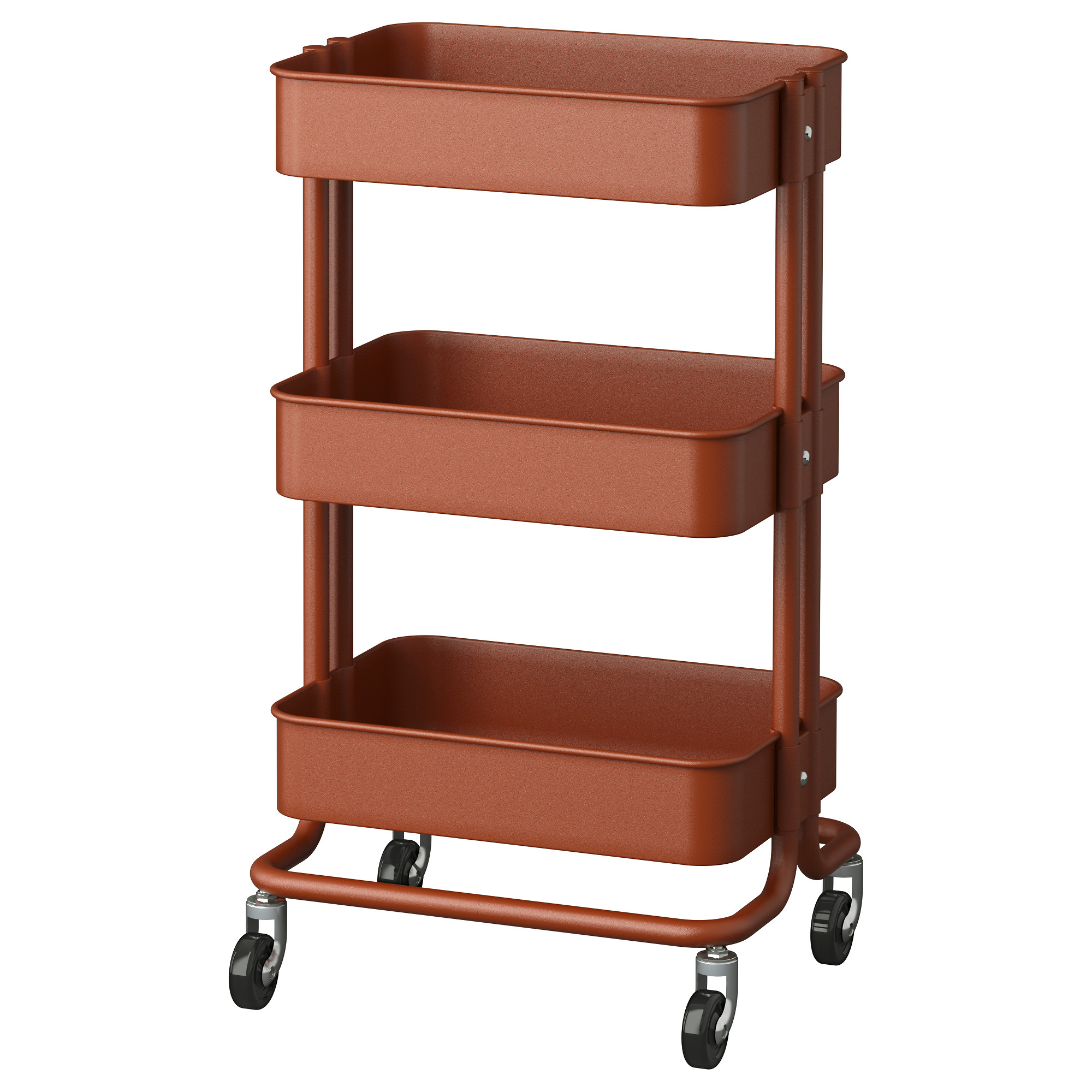 RÅSKOG Utility Cart, Red/brown Length: 13 3/4