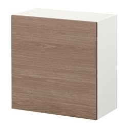 KNOXHULT wall cabinet with door, grey, wood effect Width: 60 cm Depth: 31 cm Height: 60 cm
