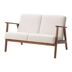 EKENÄSET two-seat sofa, Nolhaga light beige Width: 118.5 cm Depth: 78 cm Free height under furniture: 30 cm