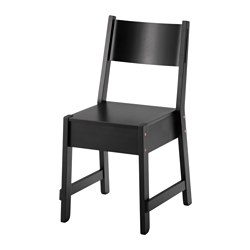 NORRÅKER chair, black Tested for: 110 kg Width: 41 cm Depth: 50 cm