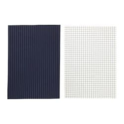 IKEA 365+ tea towel, blue, white Length: 70 cm Width: 50 cm Package quantity: 2 pack