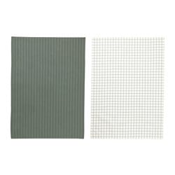 IKEA 365+ tea towel, green, white Length: 70 cm Width: 50 cm Package quantity: 2 pack