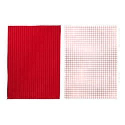 IKEA 365+ tea towel, red, white Length: 70 cm Width: 50 cm Package quantity: 2 pack