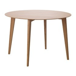 FINEDE dining table, bamboo Diameter: 80 cm Free height under furniture: 67 cm Height: 74 cm