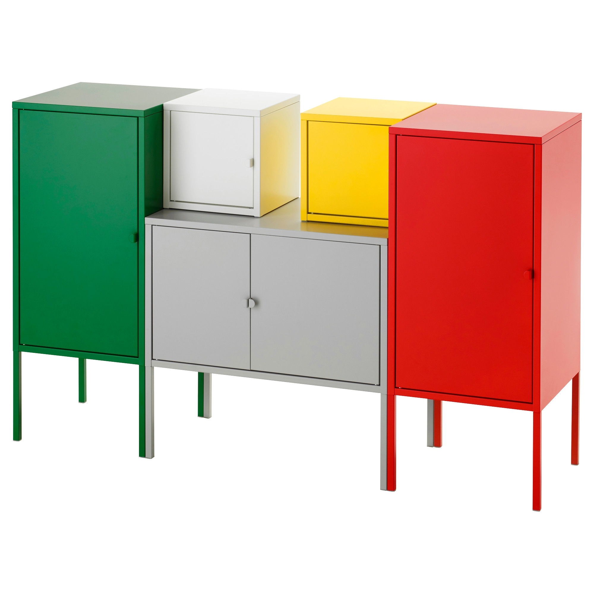 Buffet table furniture ikea - Lixhult Storage Combination White Red Yellow Green Gray Width 51