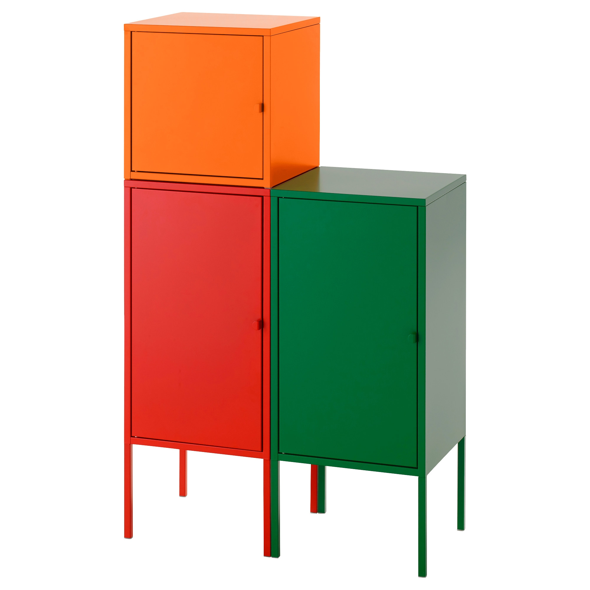 LIXHULT Storage Combination Red Orange Green Width 27 1 2