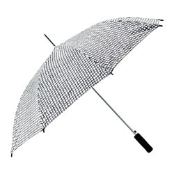 "KNALLA umbrella, black, white Length: 31 ½ "" Diameter: 41 ¼ "" Length: 80 cm Diameter: 105 cm"