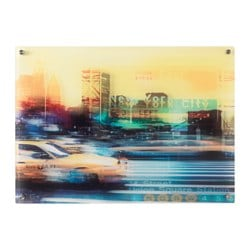 MANTEBO picture, Taxi in New York Width: 70 cm Height: 50 cm